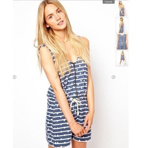 Urban outfitters ASOS Playsuit in Spot and Stripe